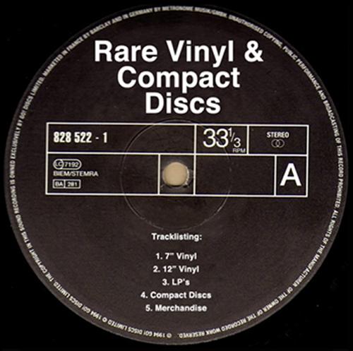 Rare Vinyl and Compact Discs