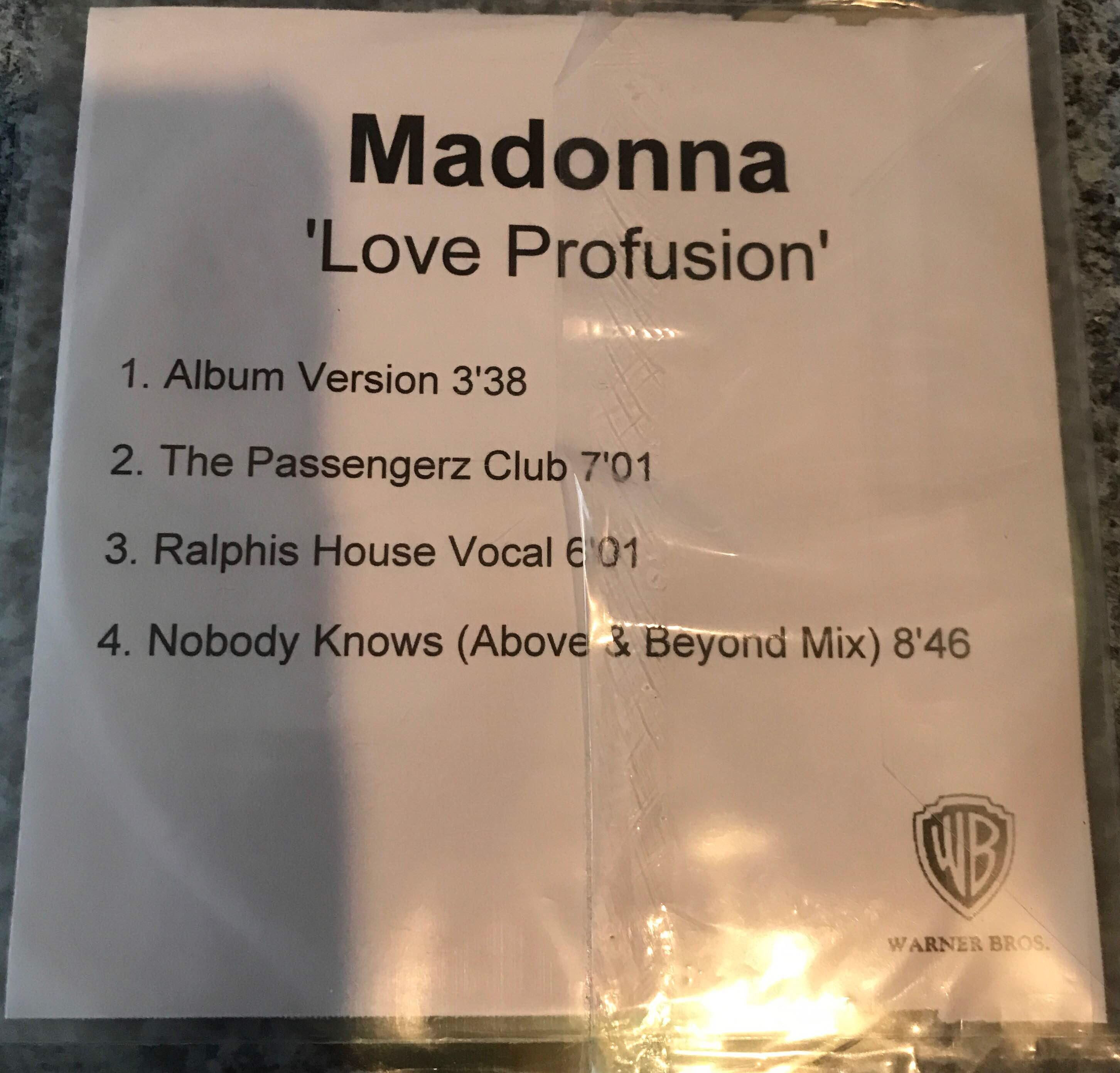 Madonna Love Profusion Promo CD